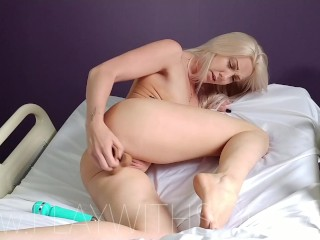 Busty Blonde Fucks Herself at the Doctors [MORE ON ONLYFANS: SinfulSofia]