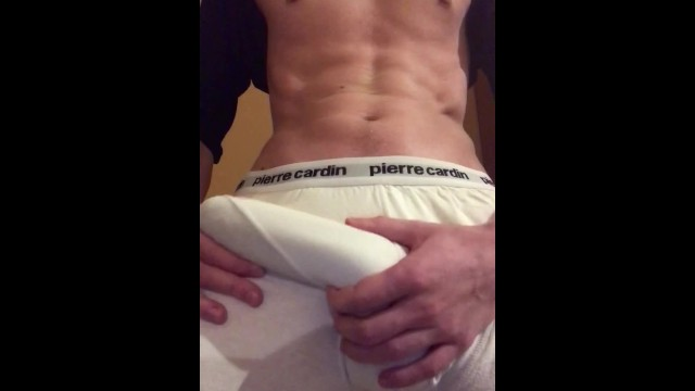 HUGE YOUNG COCK POPS OUT OF BOXERS