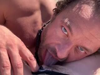 Blue eyed brad newman eats pussy...