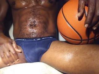 Big Black Dick Talking Dirty To His White Friend After Basketball Massage