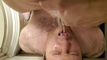 Piss bath for hubby