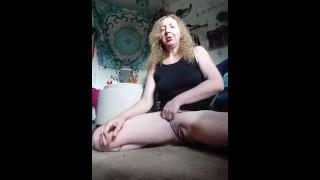 Sexy blonde milf touching it, juicy,natual blonde couygar milf masterbating