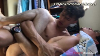 Top Dominant Boy bottoms for 1st time with Jock Athletic White guy-FlipFlop