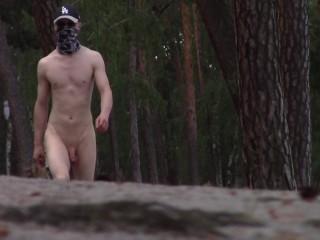 Nudist boy nice body public...