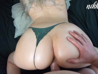 She wanted a massage but got a creampie instead - NikkieRae