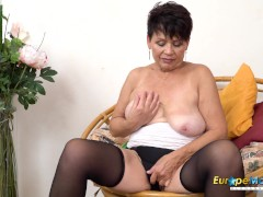 Europemature Solo Sensuous Striptease And Toying