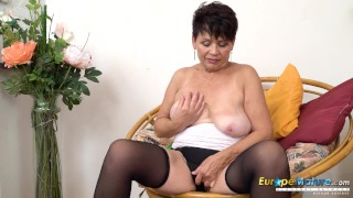 EuropeMaturE Solo Sensual Striptease and Toying