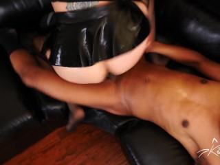 Kitty J shows Ronnie what an anal whore she is