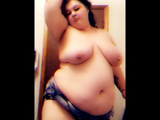 BBW Goth Queen drinking and dancing