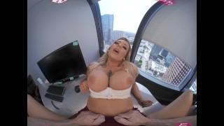 VRBangers - Horny Secretary Caught Masturbating By Her Boss VR Porn