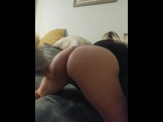 Milf getting her ass smacked by girlfriend