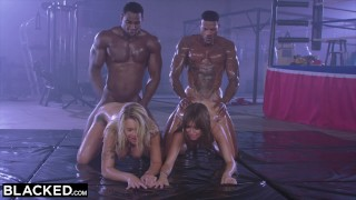 Screen Capture of Video Titled: BLACKED Riley Reid Gets DP'd By Two Bulls