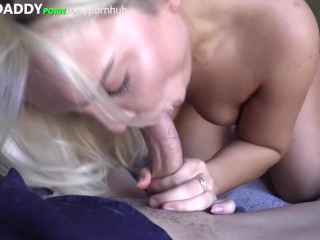 Blonde College Babe with AMAZING ASS Fucks Guy On TOOHARD