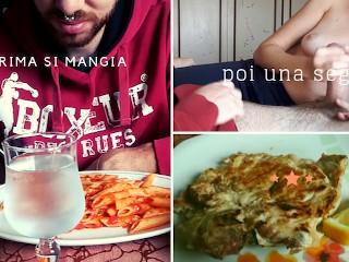 Andiamo a mangiare e poi mi fai una sega - amatoriale italiano con dialoghi