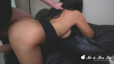 Hot Busty Teen Takes Big Dick On Couch Sex
