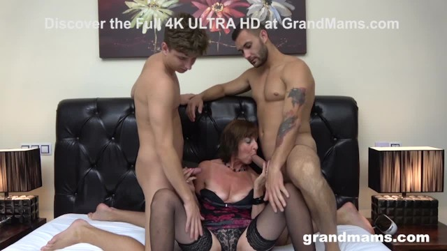 Hot pussy getting stuffed pictures Horny old bitch gets her holes stuffed by two cocks