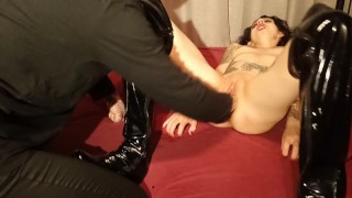 extreme fistfuck and total destruction of a slut pussy