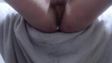 Rubbing cum on my asshole