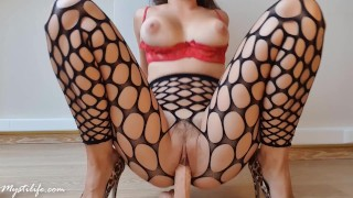 Foot job and crazy ride with shaking orgasm - Mysti Life