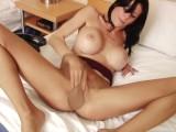 Pantyhose JOI MILF Mayhem for the one: Big Fake Tits Pantyhosed Mom POV