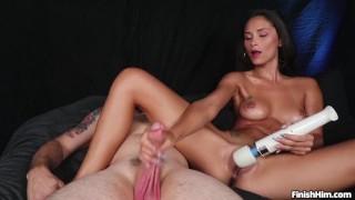 Puss Play Handjob with Wand - Ari Parker
