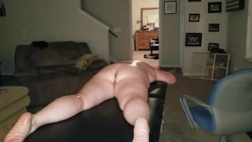 Enjoying our massage table