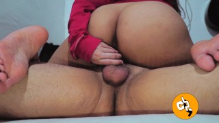 Horny Pinay Teen Rubs Wet Pussy on Stepbrother's Dick