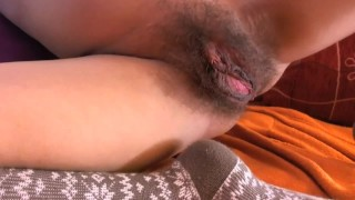 hot Hairy pussy. My stepdaugther on Cam