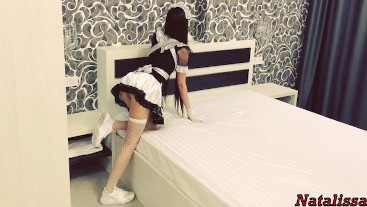 FULL! Hot French Maid Gets Roughly Fucked By The Tenant -Natalissa
