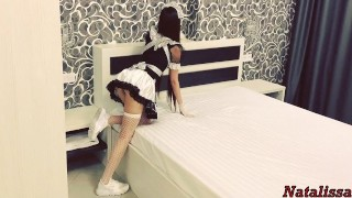 Screen Capture of Video Titled: Hot French Maid Gets Roughly Fucked By The Tenant - Natalissa