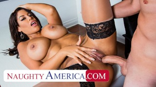 Naughty America Bridgette B. has student fill her needs