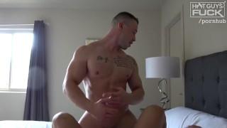 Tatted Buff Young Bodybuilder Jock Fills Hot Latina Pussy