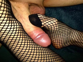 27 fishnet feet fuck and huge soles...