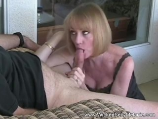 Granny Dildo And Blowjob Action Satisfies His Cock