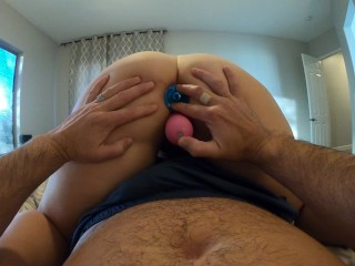 And double penetration with my dildo with cream...