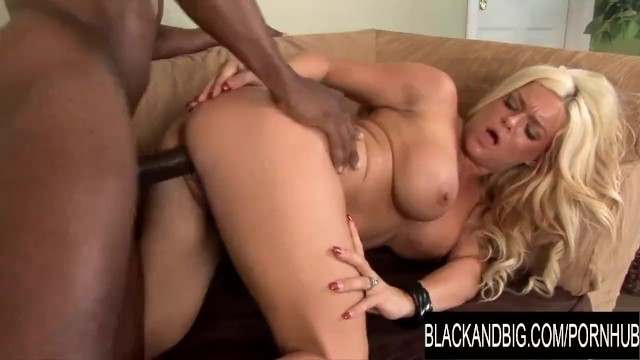 Blonde Crista Moore Throws Away Her Pudding for a Big Chocolate Rod 1