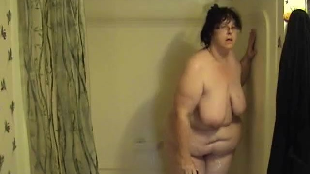 BBW Taking a Shower and Playing with Toy - Not HD 37