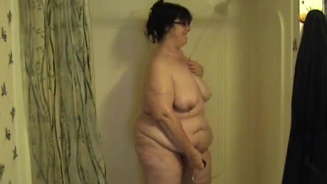 BBW Taking a Shower and Playing with Toy - Not HD 3