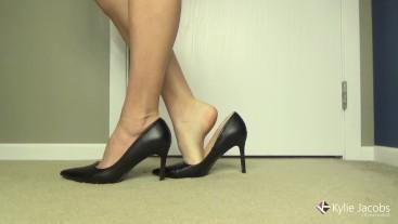 Sexy Black High Heel Shoeplay