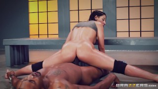 Brazzers- Charming Abella Danger knows how to handle a huge black cock