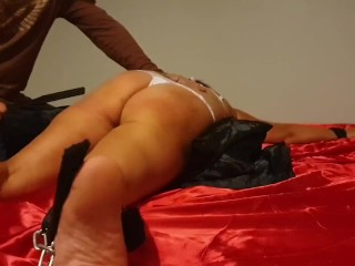 Slut takes hard spanking