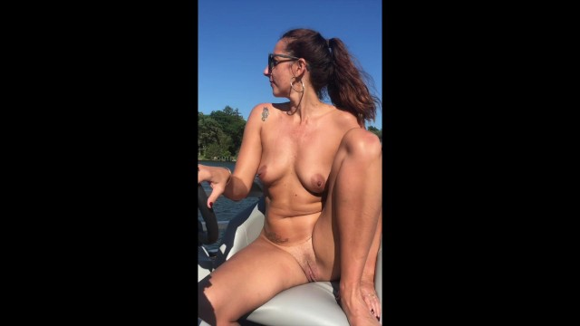 Naked moms boating tubes - Naked boat captain, milf takes it all off on the water.