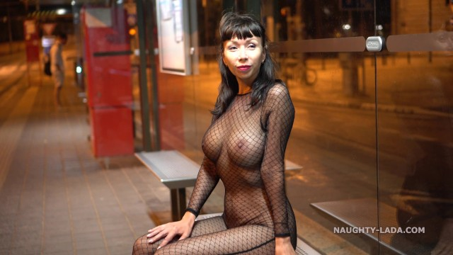 Mesh Outfit In Public At Night - Pornhubcom-8365
