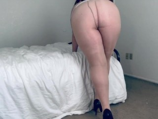 High nylons sexy posing and walking...