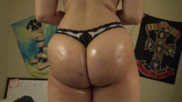 Oiled Up Ass Workout- Twerking and Butt Flexing: by Dani Sorrento