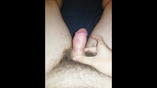 Flaccid and erect penis size Amateur flaccid penis growing bigger and bigger foreskin pulled back