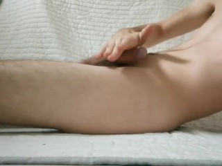 Twink wanking with lube...