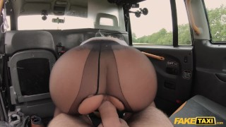 Fake Taxi Hot wife Tara Spades fucks in crotchless nylons
