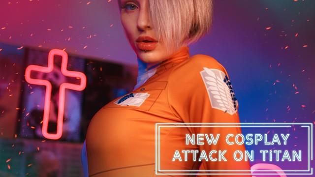 Kinky Dope Cosplay sex scene based on the Attack on Titan manga