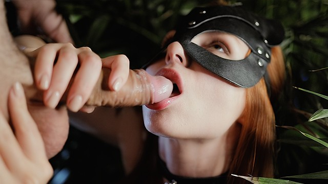 Feeding you fetish corn meal Oral creampie in night jungle. little thirsty cat found her sweet cum-meal